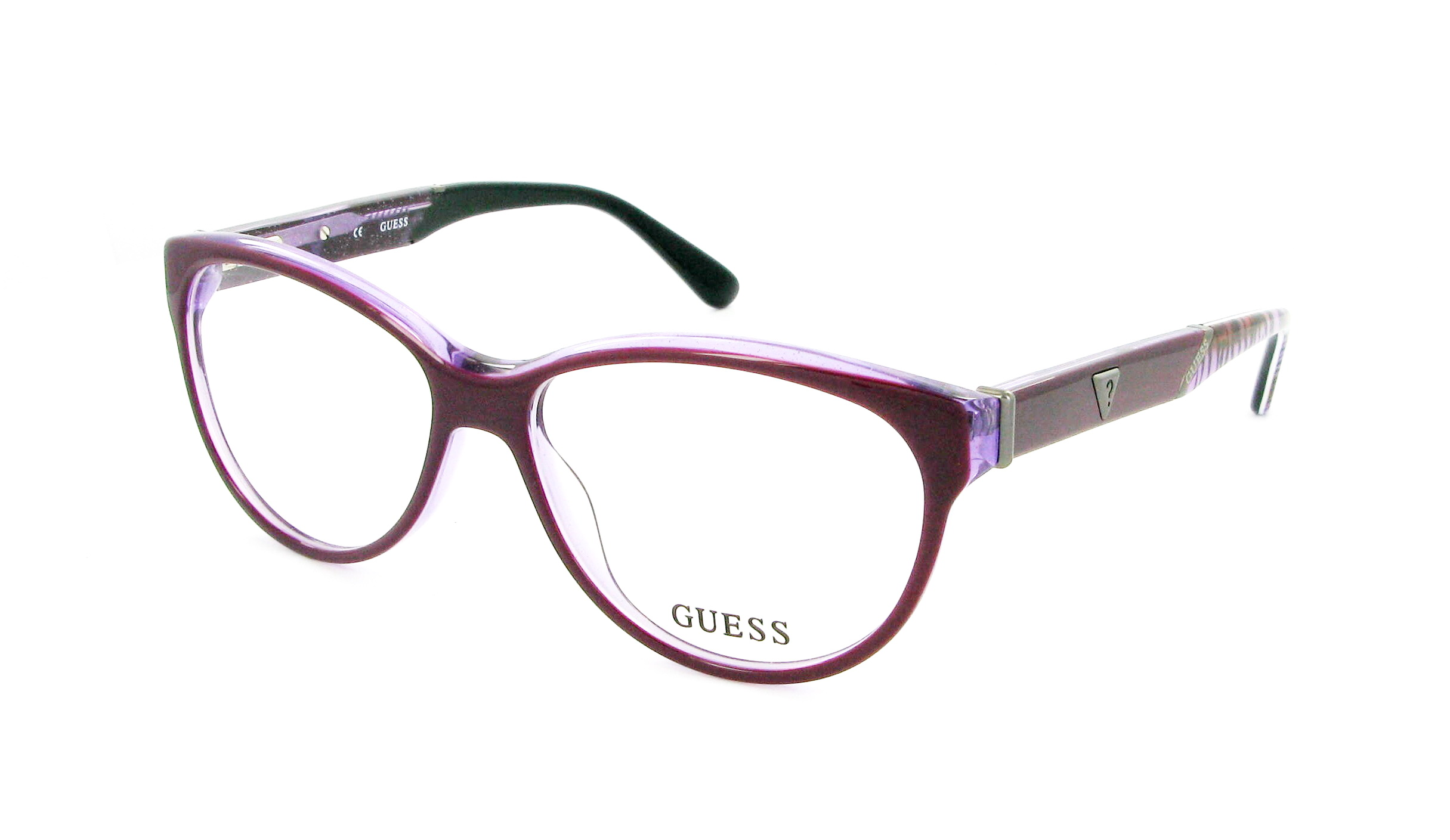 lunettes de vue guess gu 2311 pur 54 14 femme violet ovale. Black Bedroom Furniture Sets. Home Design Ideas